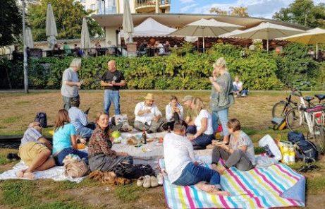 Wein Picknick im Park