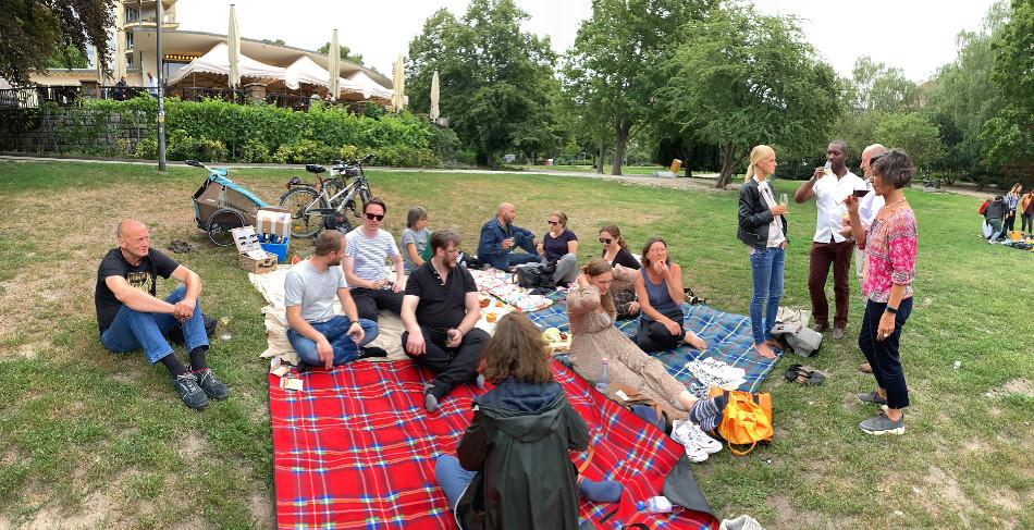Weinpicknick im Park
