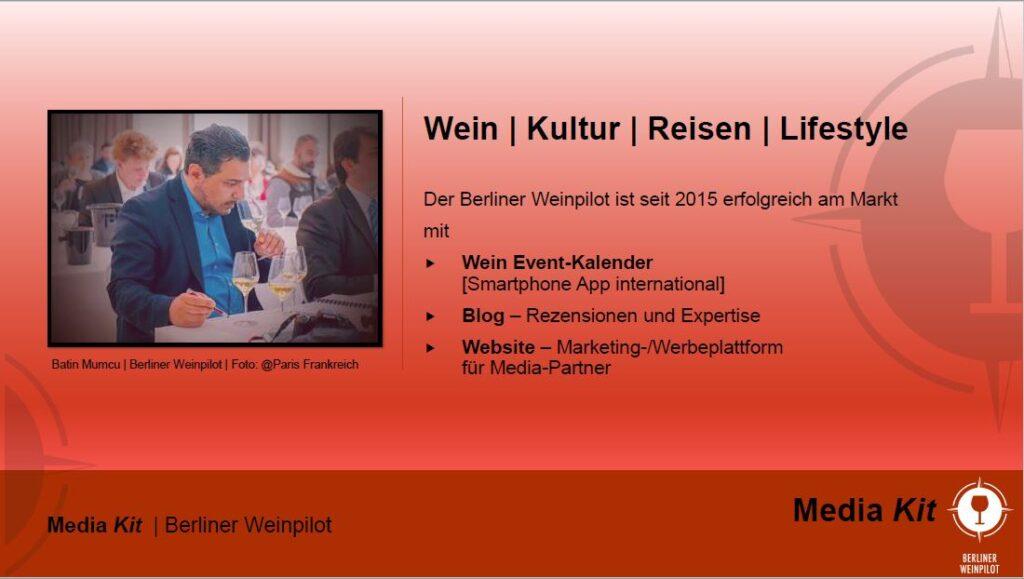 Wein   Kultur   Reisen   Lifestyle   Berliner Weinpilot   Media Kit Daten 2021