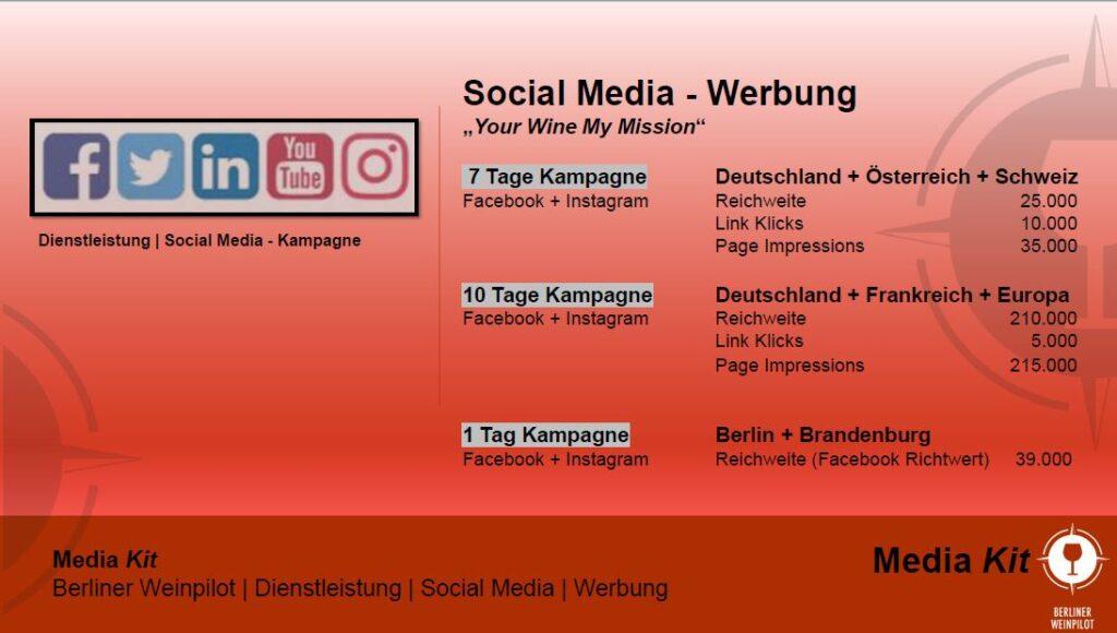 Social Media   Berliner Weinpilot   Media Kit Daten 2021