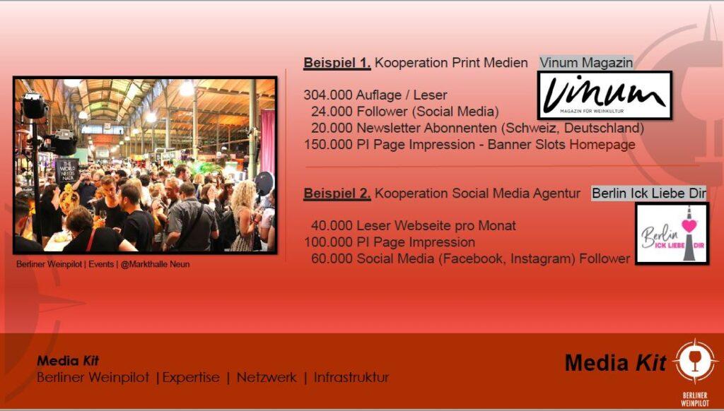Berliner Weinpilot   Media Kit Daten 2021   Beispiele   Netzwerk Kooperation