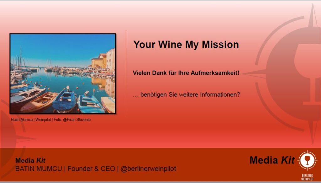 Berliner Weinpilot   Media Kit Daten 2021   Danke für Ihre Aufmerksamkeit